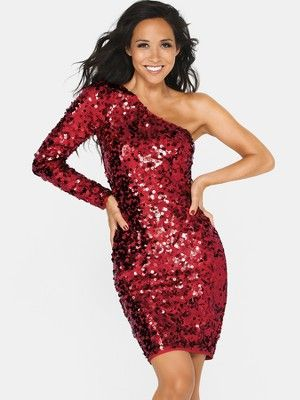 Myleene Klass One Shoulder Sequin Dress £110 | likes | Pinterest ...