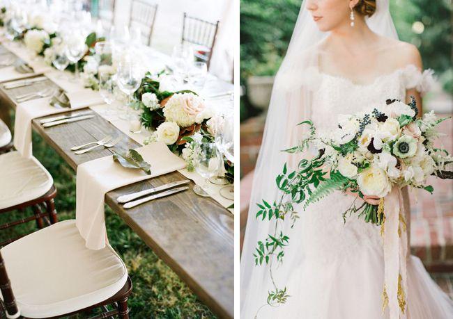 Elegant White + Cream Wedding I Coastal Bride