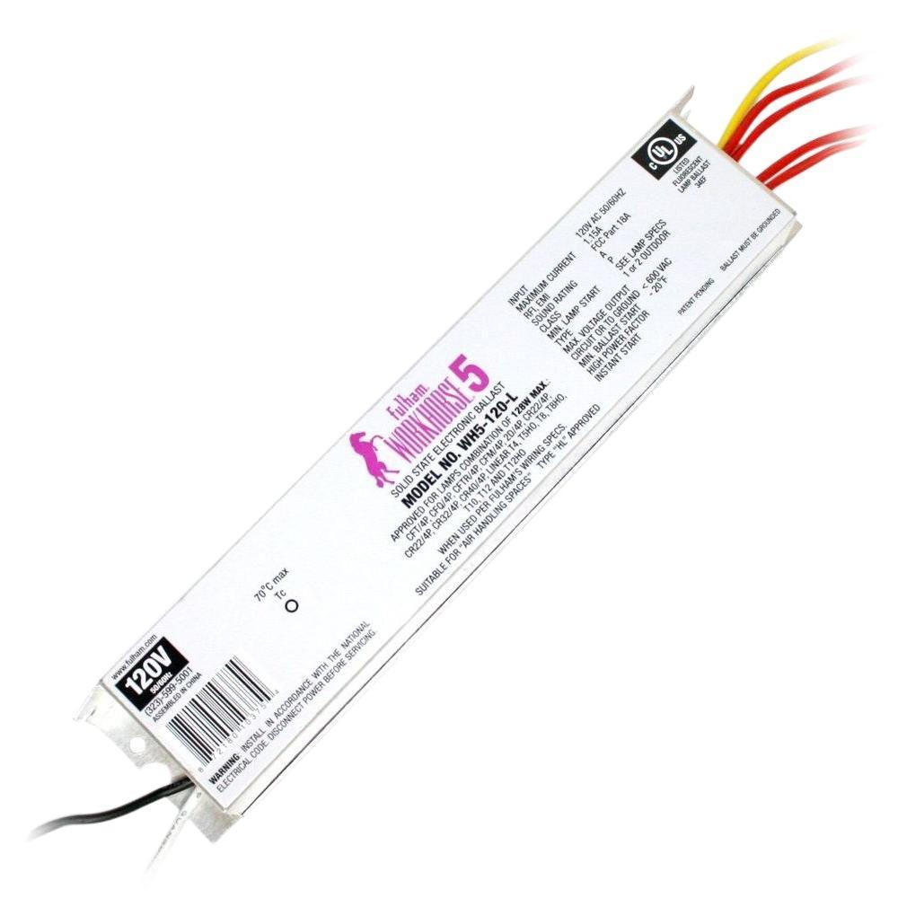 Fulham 128 Watt 120 Volt Fluorescent Replacement Electronic Ballast Fulham Bulb Home Depot