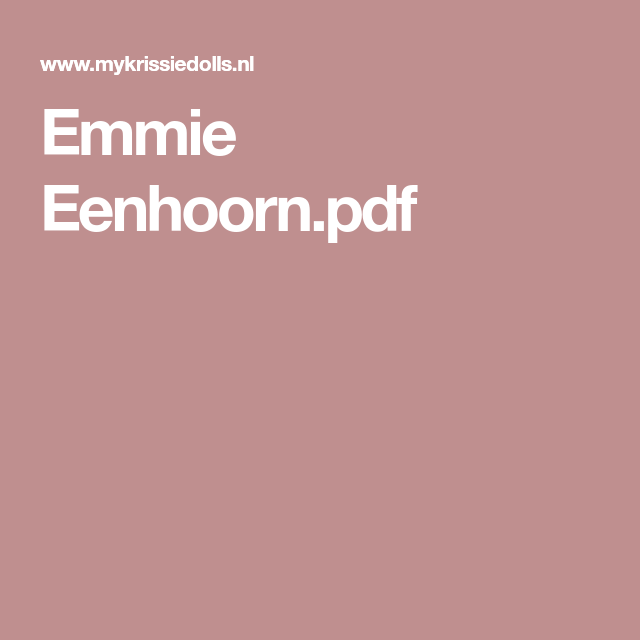 Emmie Eenhoornpdf Breimachine En Haakpatronen Pinterest Pdf