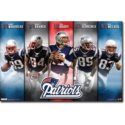 New England Patriots Team Poster 9 80 Patriots Team Patriots New England Patriots