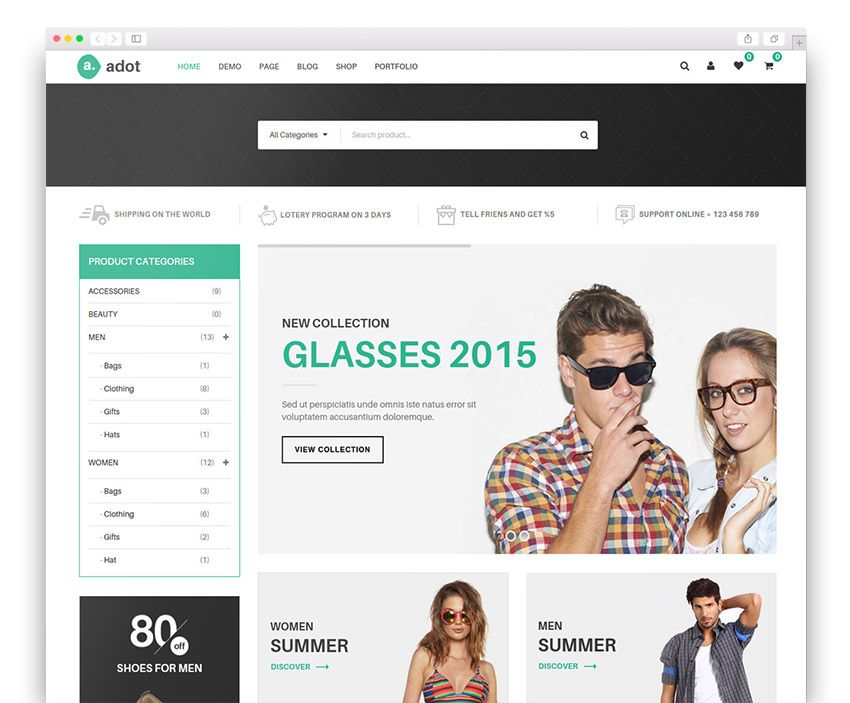 eCommerce WordPress Theme - adot | Best WordPress Themes | Pinterest