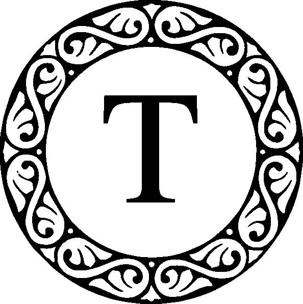 letter T | Letter T Monogram clip art | T ɨs ʄօʀ Taʀa | Monogram