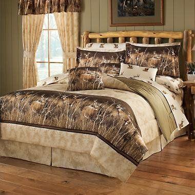 Deer Mountain King Comforter Set By All Seasons Bedding 205 95 Hotel Bedding Sets Bed Comforter Sets Cabin Decor