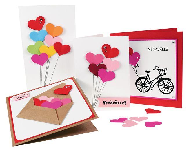 Kuvioleikkureiden avulla saat kauniita kortteja helposti. Tarvikkeet ja ideat Sinellistä!