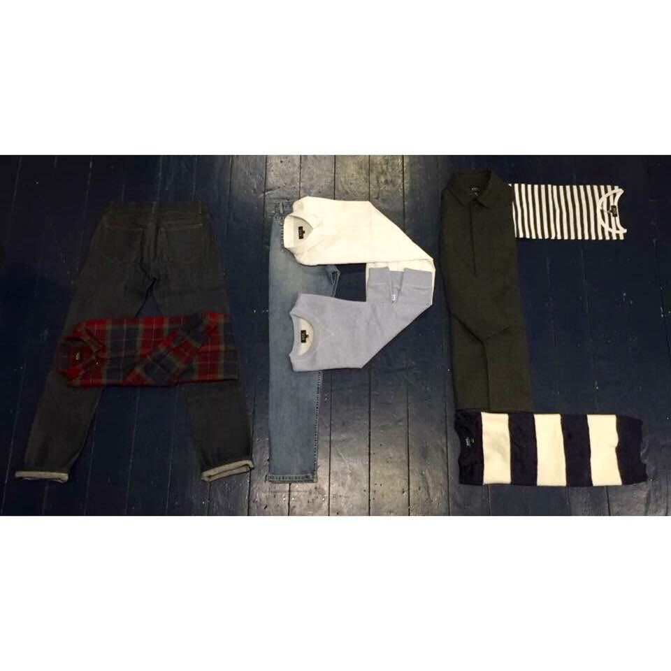 We got creative with the new @apc_paris arrivals. What do you think for our future in graphic design? All these great pieces are available online and in-store now!  #menswear #style #mensfashion #AW15 #streetwear #casualwear #shirting #tartan #London #Islington #denim #knitwear