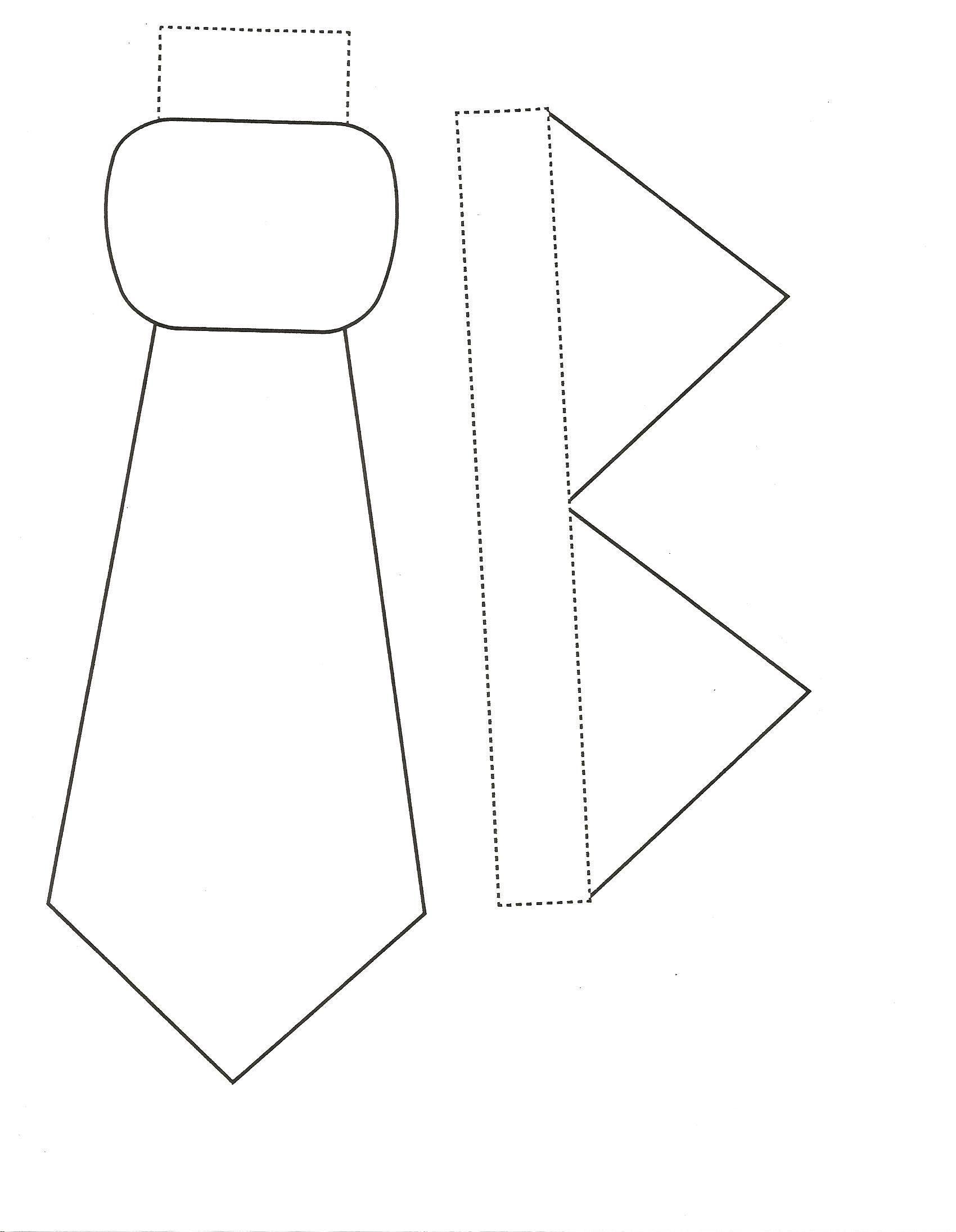 Галстук из бумаги для открытки