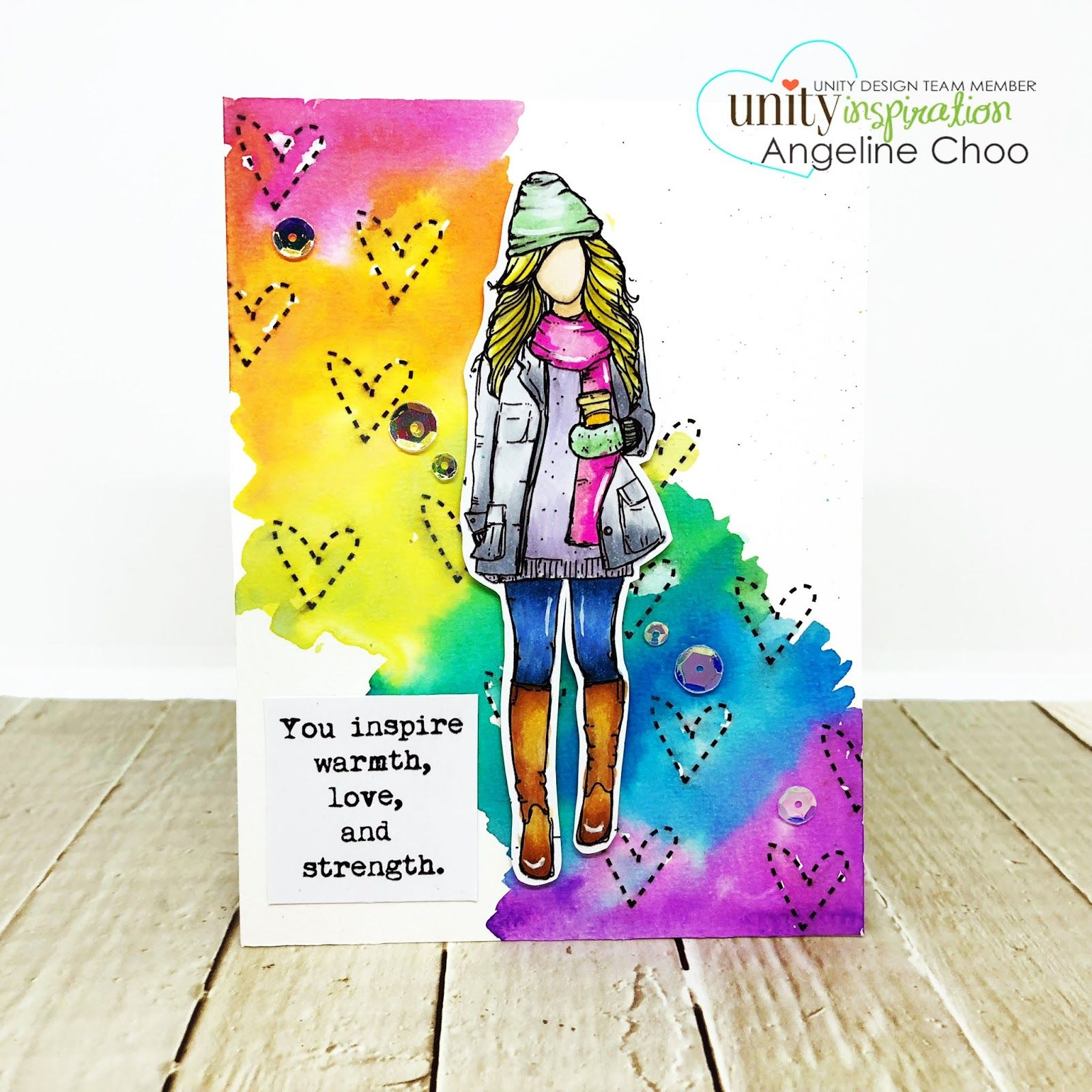 Great rainbow background for a girl image  | Card
