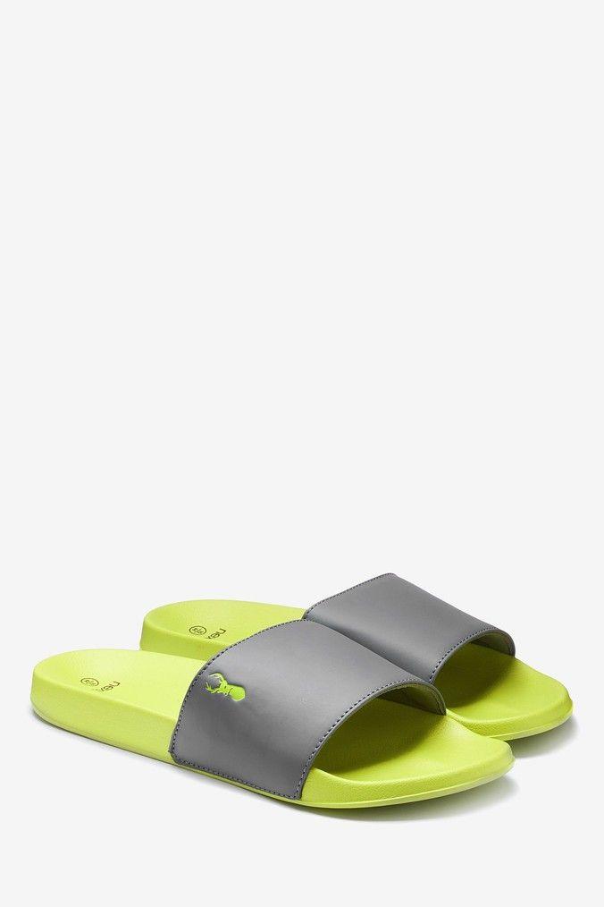 Mens Next Green Colourblock Slider