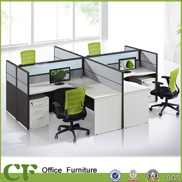 China L Shaped Curved Desktop Office Workstation For 4 Person Photos Pictures Home Office Computer Desk Workstations Design Office Furniture Layout