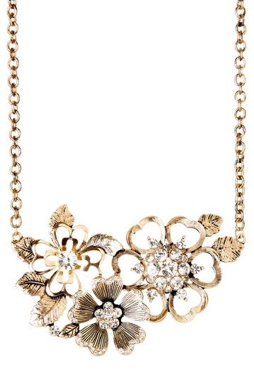 Cluster Floral Statement Necklace