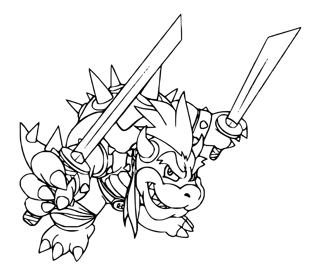 Bowser Coloring Pages | Mario coloring pages, Coloring ...