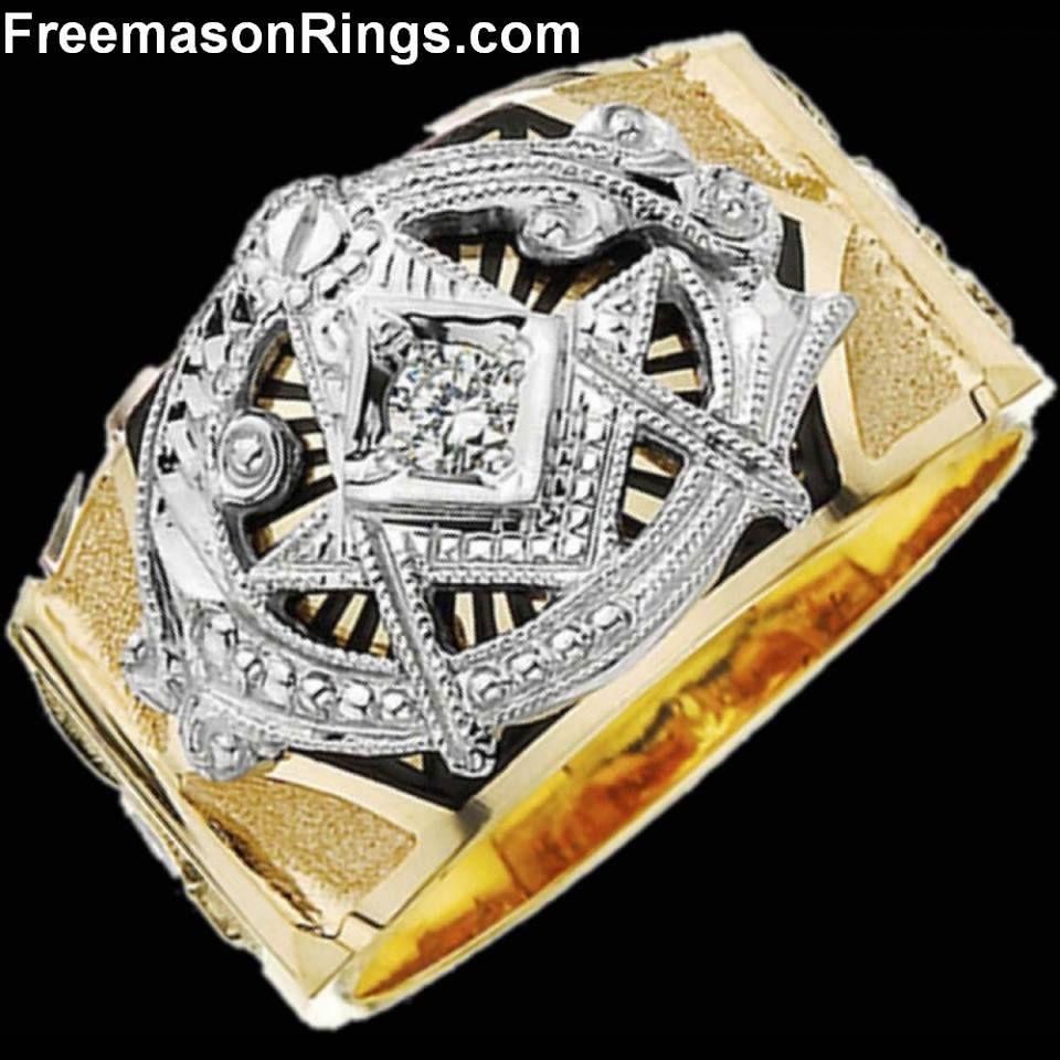 TwoTone Big G Ring Masonic ring, Freemason ring