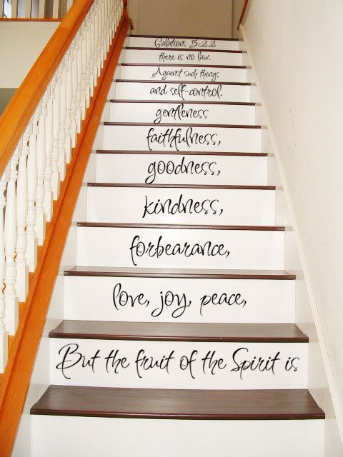 Awesome Galatians 5 22 23   STAIR CASE   Art Wall Decals Wall Stickers Vinyl Decal  Quote   But The Fruit Of The Spirit Is