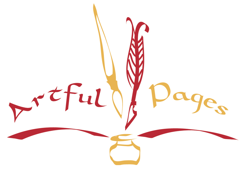 Artful Pages Is Artist Linda Richardson She Focuses On Designing Personal Books Using Poetry And Creative Design Logo Design Design Creative Design