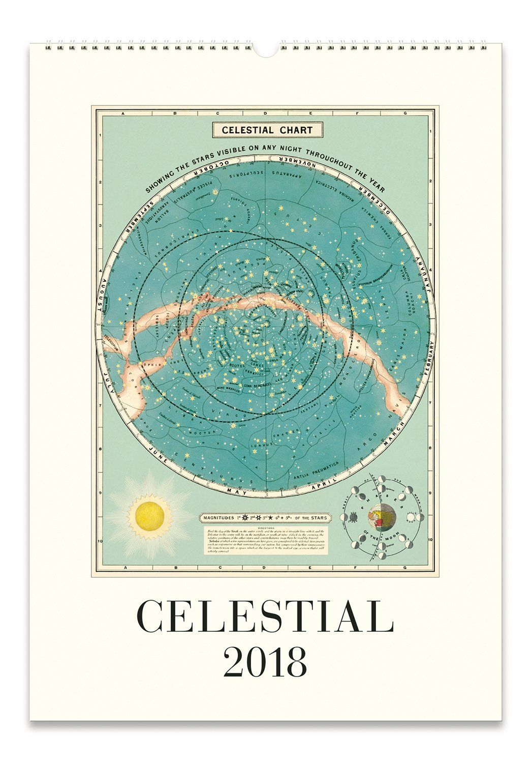 Cavallini Papers Celestial 2018 Wall Art Calendar: Home & Kitchen ...