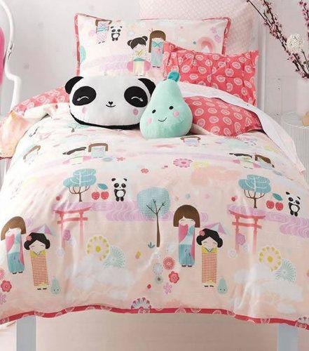 Panda design print Bedding set Quilt Cover Pillowcases Children/'s Single//Double