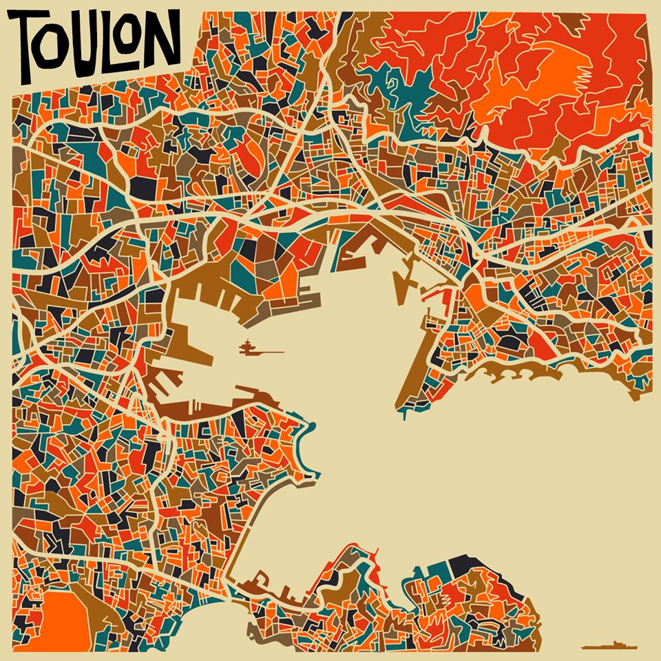 Toulon map Monsieur Z Toulon Provence by Monsieur Z