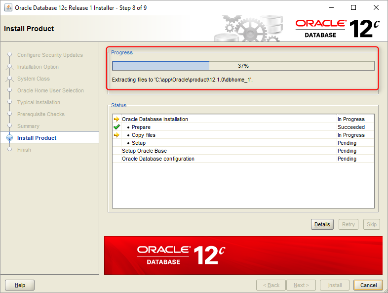 How to install Oracle Database Enterprise Edition 12C on