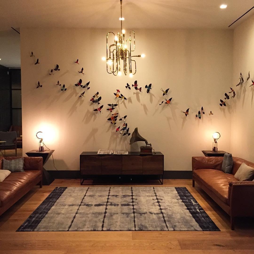3D bird wall art float from a gramophone line music notes ...