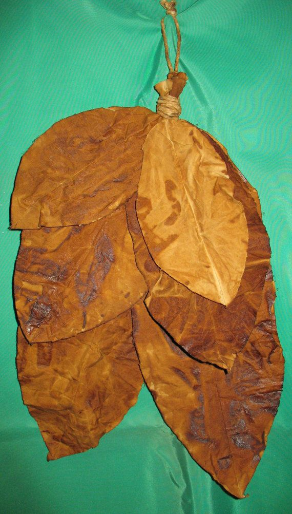 Fabric Handed Tobacco Leaves by TennesseeCreations on Etsy