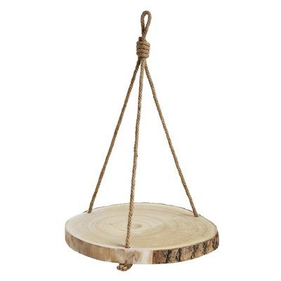 Abston Paulownia Wood Hanging Planter