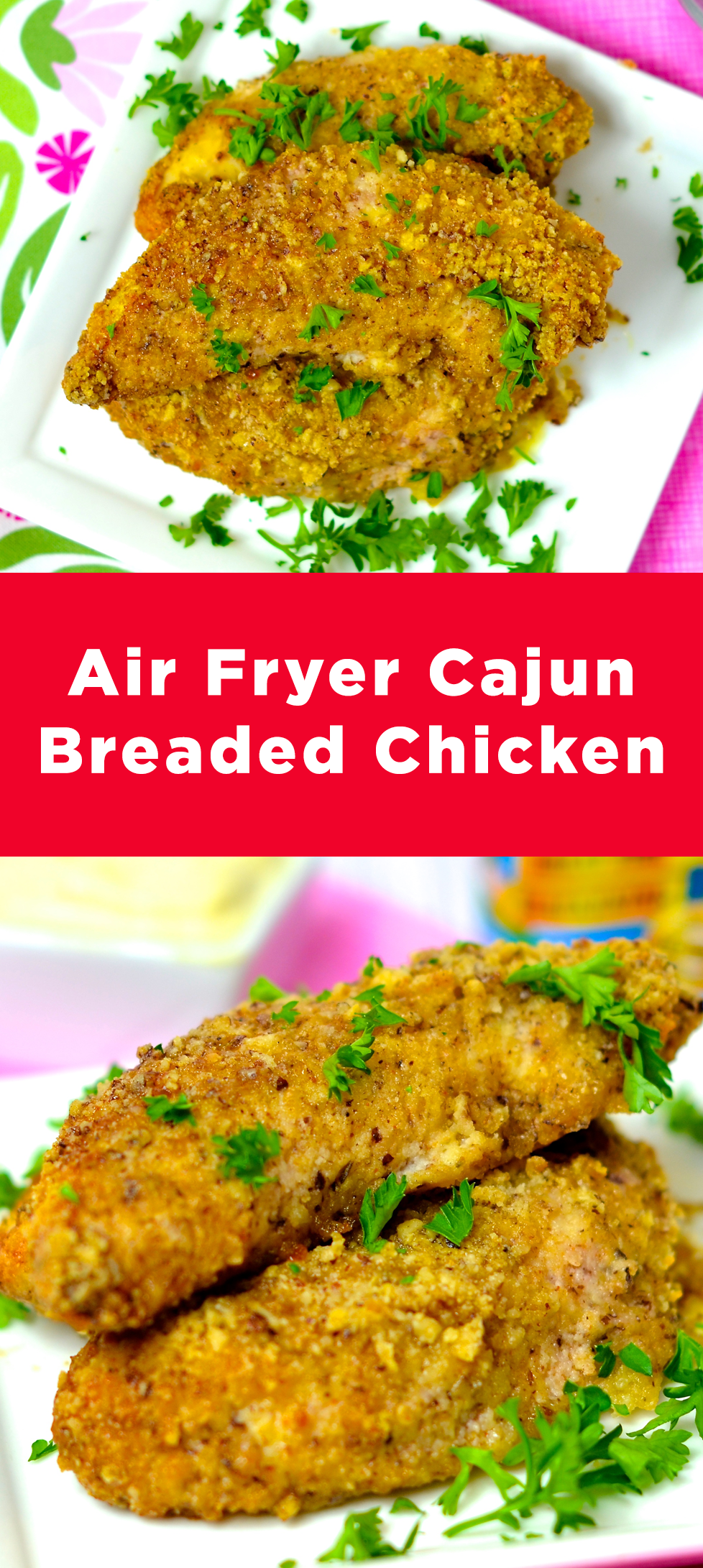 Air Fryer Cajun Breaded Chicken
