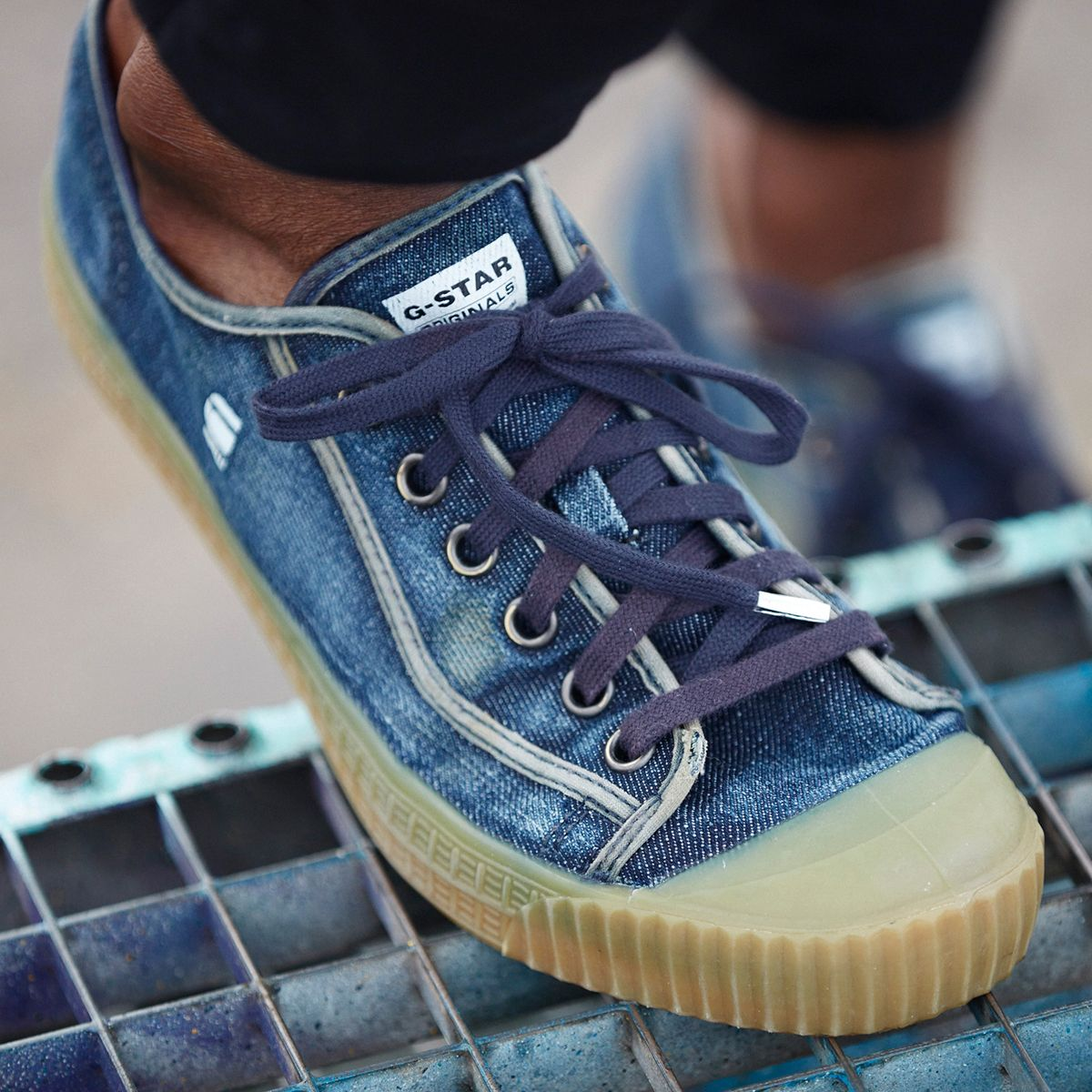 Sneakers for the denim-obsessed. Meet rovulc.   shoes   Sneakers ... 718fa24a5f9