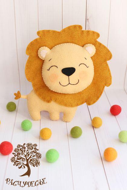 """Игрушки животные, ручной работы. Ярмарка Мастеров - ручная работа. Купить Игровая игрушка из фетра """"Львенок"""". Handmade. Фетр, лев"""