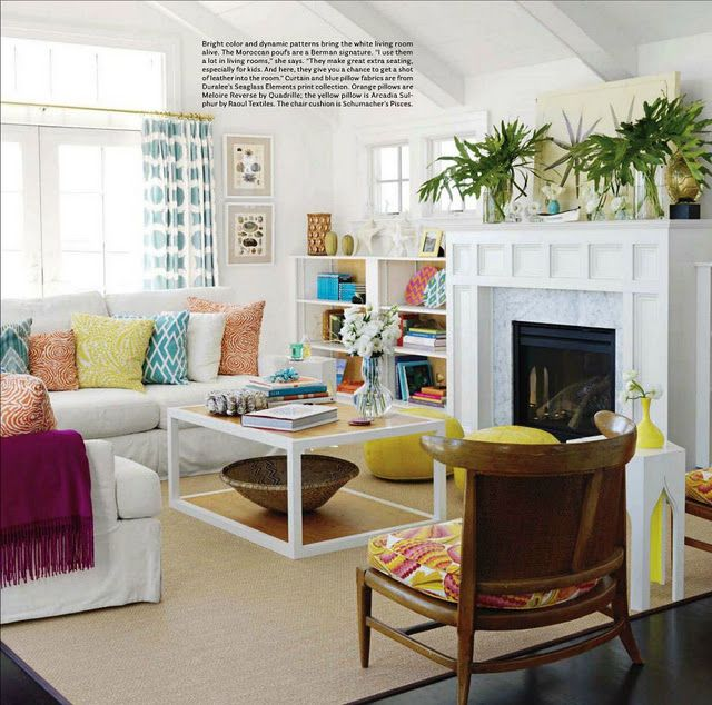 Strathmere NJ Beach Living Room By Mona Ross Berman Interior And Beauteous Bright Colors For Living Room Exterior