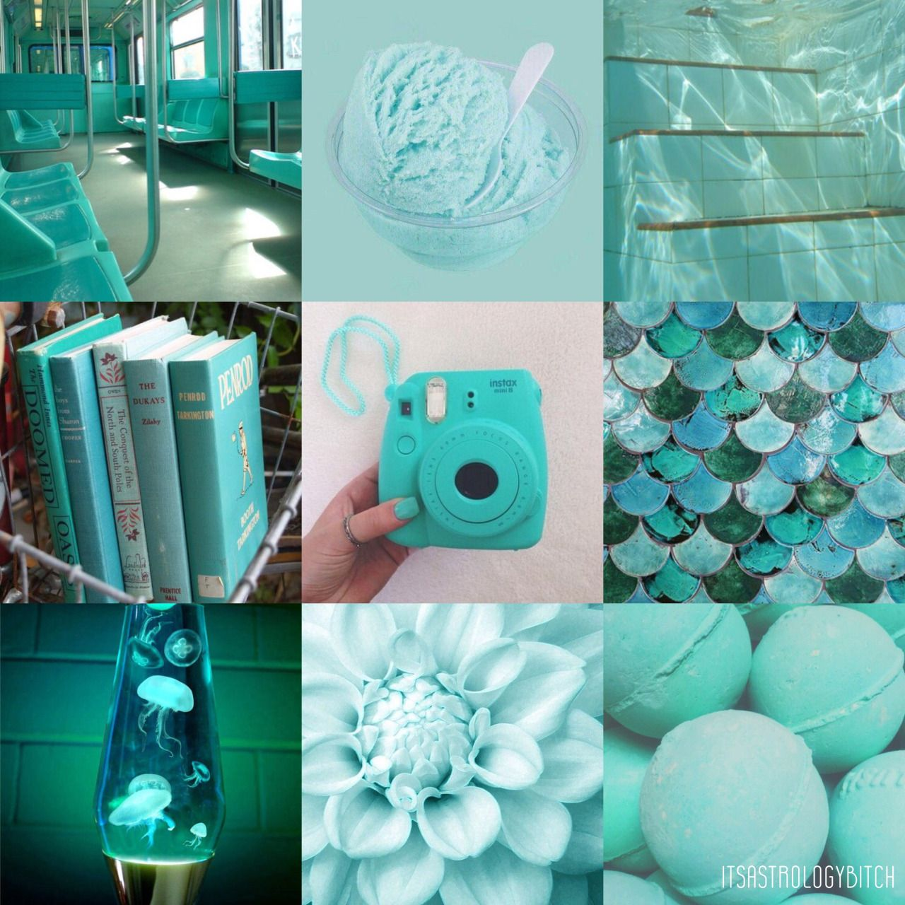 Pisces Color Aesthetic Turquoise Turquoise A Color Full Of Wanderlust And Dreams Living In An Pisces Color Aesthetic Collage Aesthetic Iphone Wallpaper