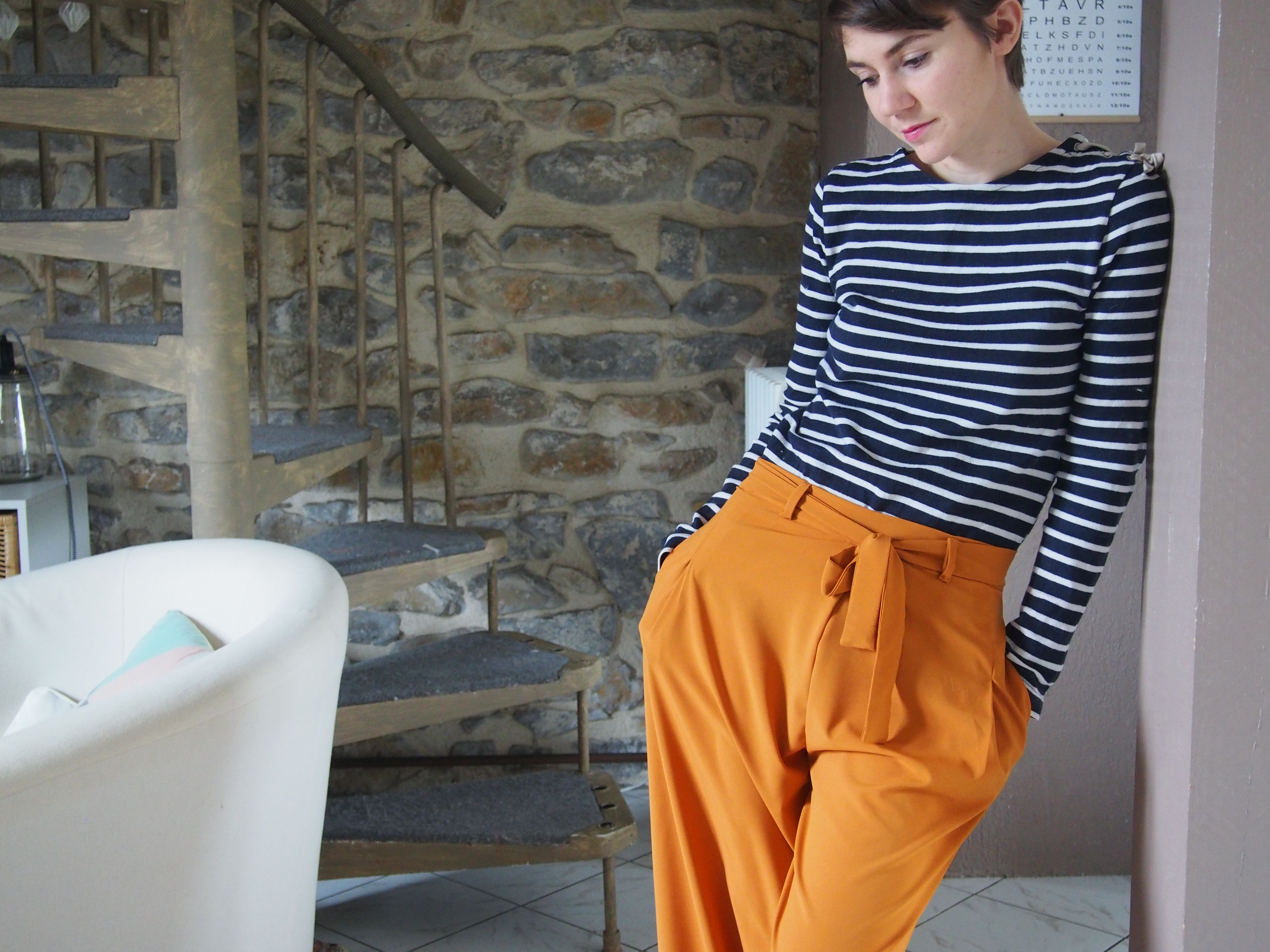 a7a980126aa5b2 Pantalon noué à la taille patron couture Tucson - Kit by Klo Fait-main