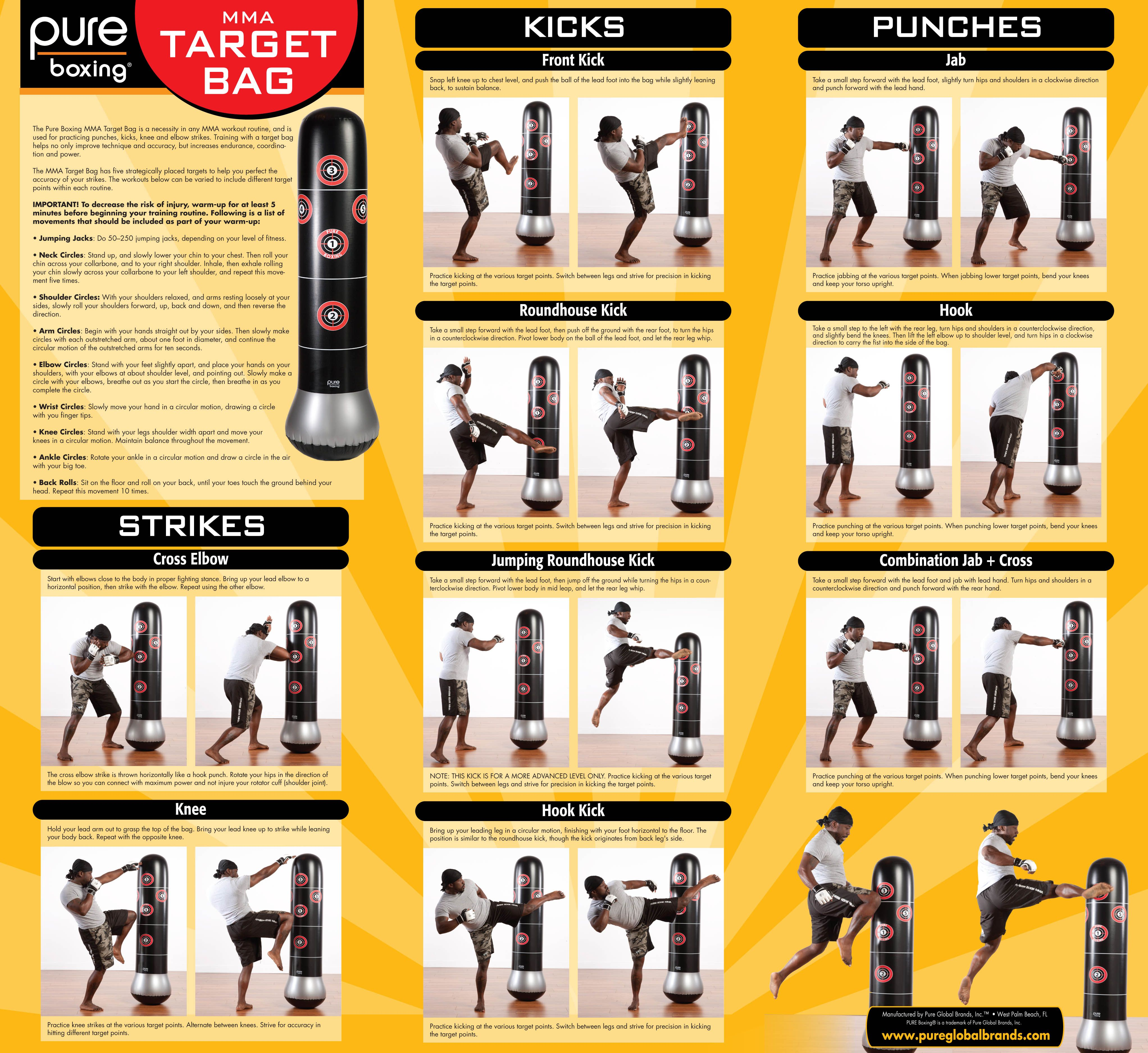 Mma Workout Poster Heavy Bag