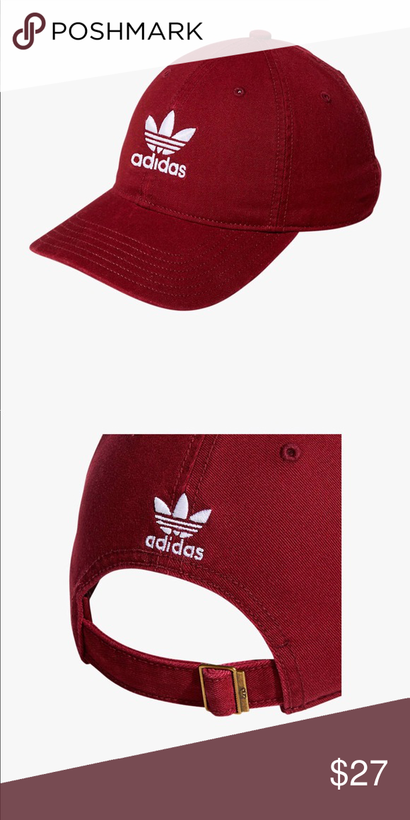 f1bc8564cb24a New🔥Adidas hat 100% cotton One size Relaxed strapback adidas Accessories  Hats