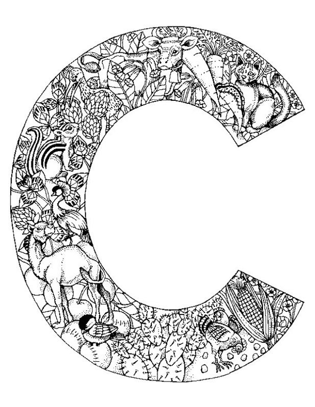 Animal Alphabet Letter C Coloring