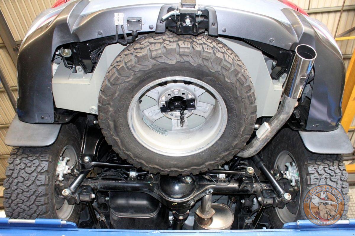 Underneath With Spare Wheel Long Range Tank Isuzu Mux Spare Tire Tank Fuel