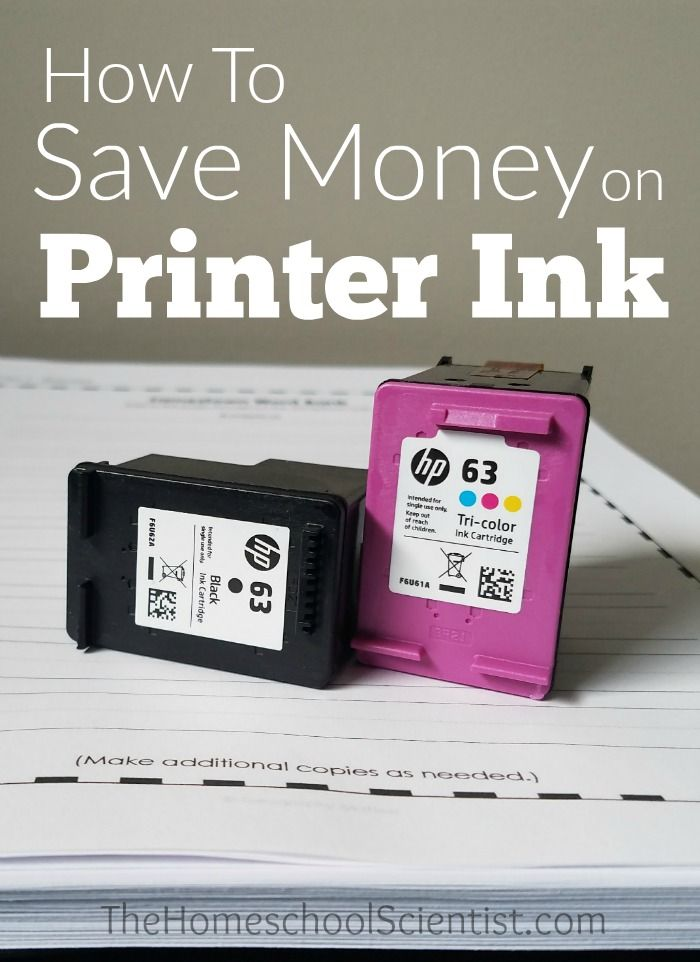 How To Save Money On Printer Ink | General Homeschooling