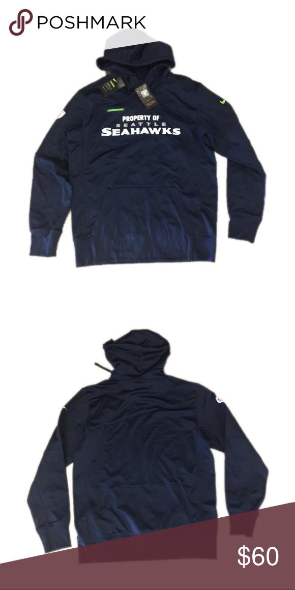 Seattle Seahawks Nike Hoodie Sweatshirt Medium Brand new with tags  officially licensed Seattle Seahawks Nike men s Therma Fit Pullover hoodie  sweatshirt ... df443c6eb