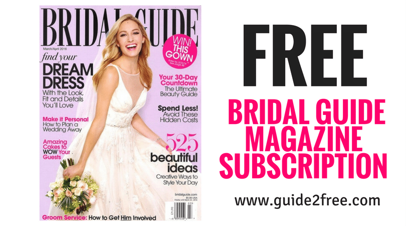 Free Bridal Guide Magazine Subscription With Images Bridal Guide Magazine Bridal Guide Wedding Expenses