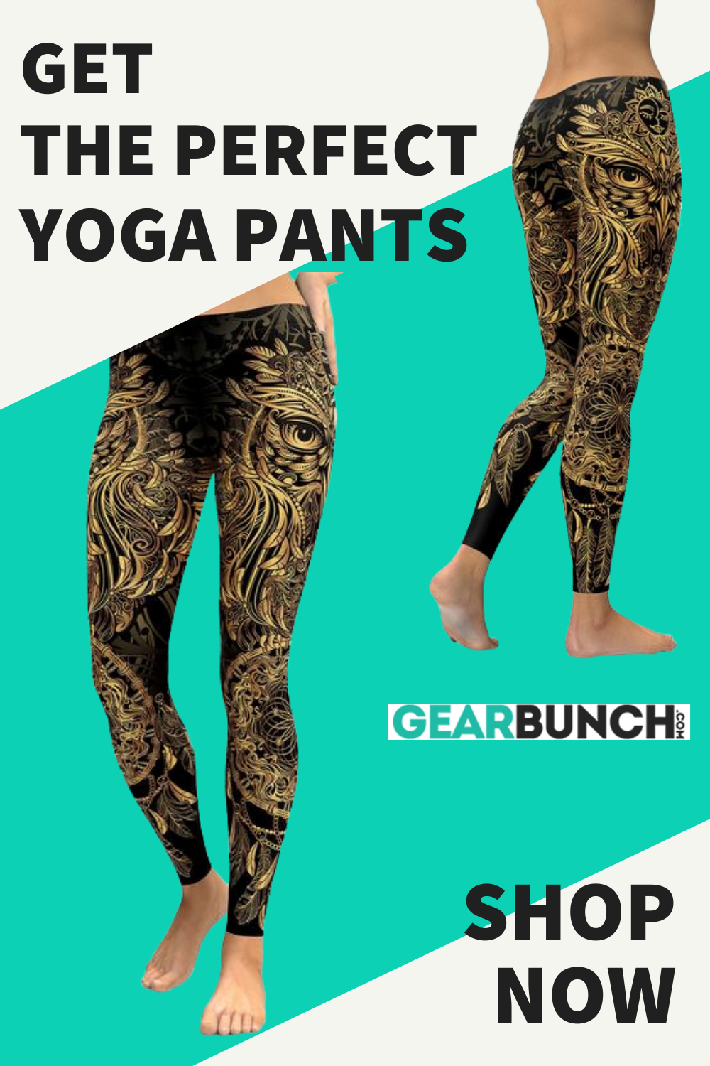 Golden Ornamental Owl Leggings in 2020 (With images