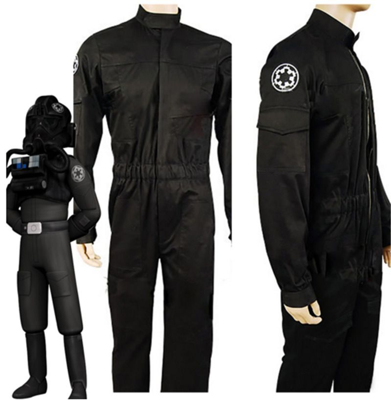 Star Wars Imperial Officer Costume Tie Fighter Pilot Cosplay Costume Jumpsuit