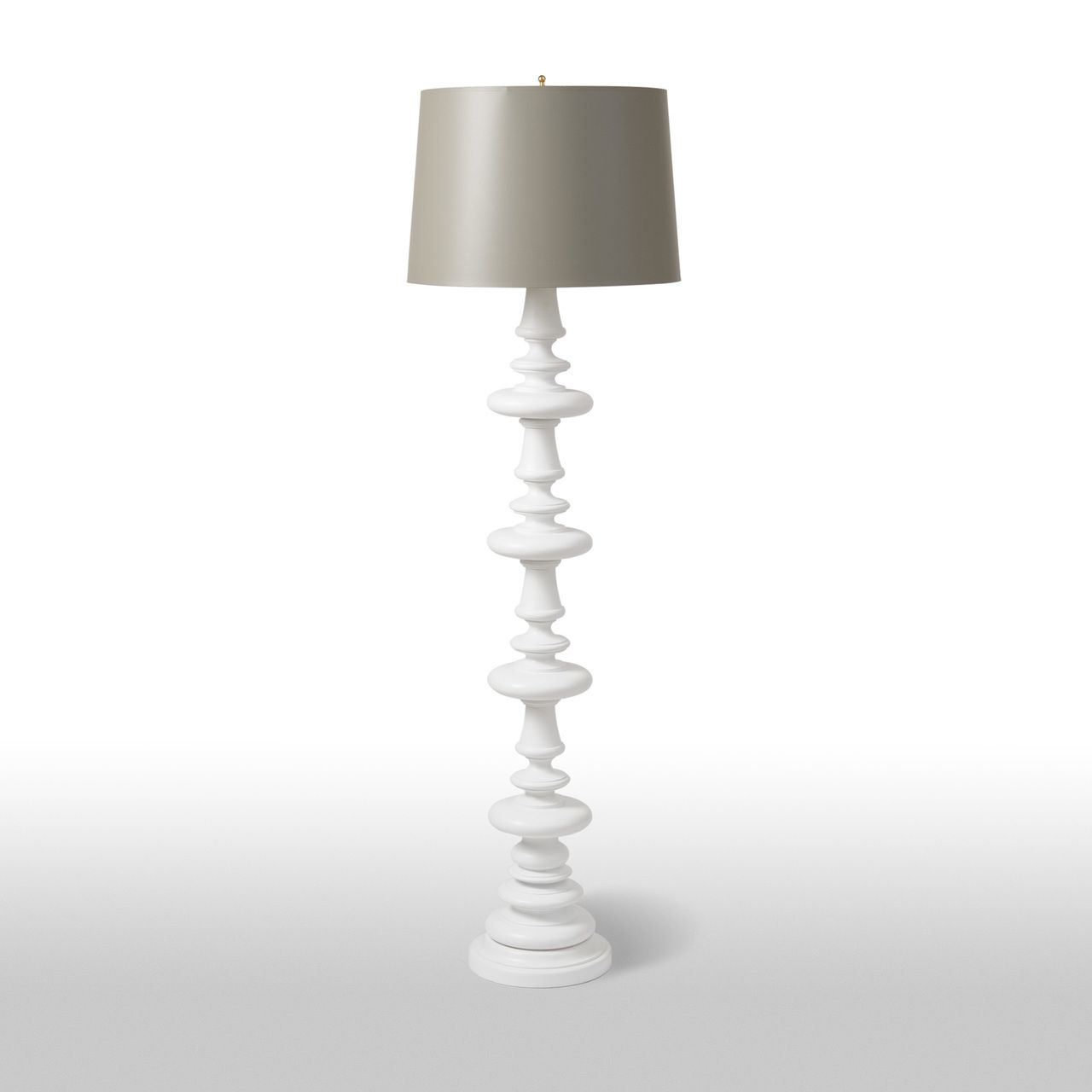 Turned Floor Lamp Tall White Barbara Cosgrove Lamps Lumber Lane