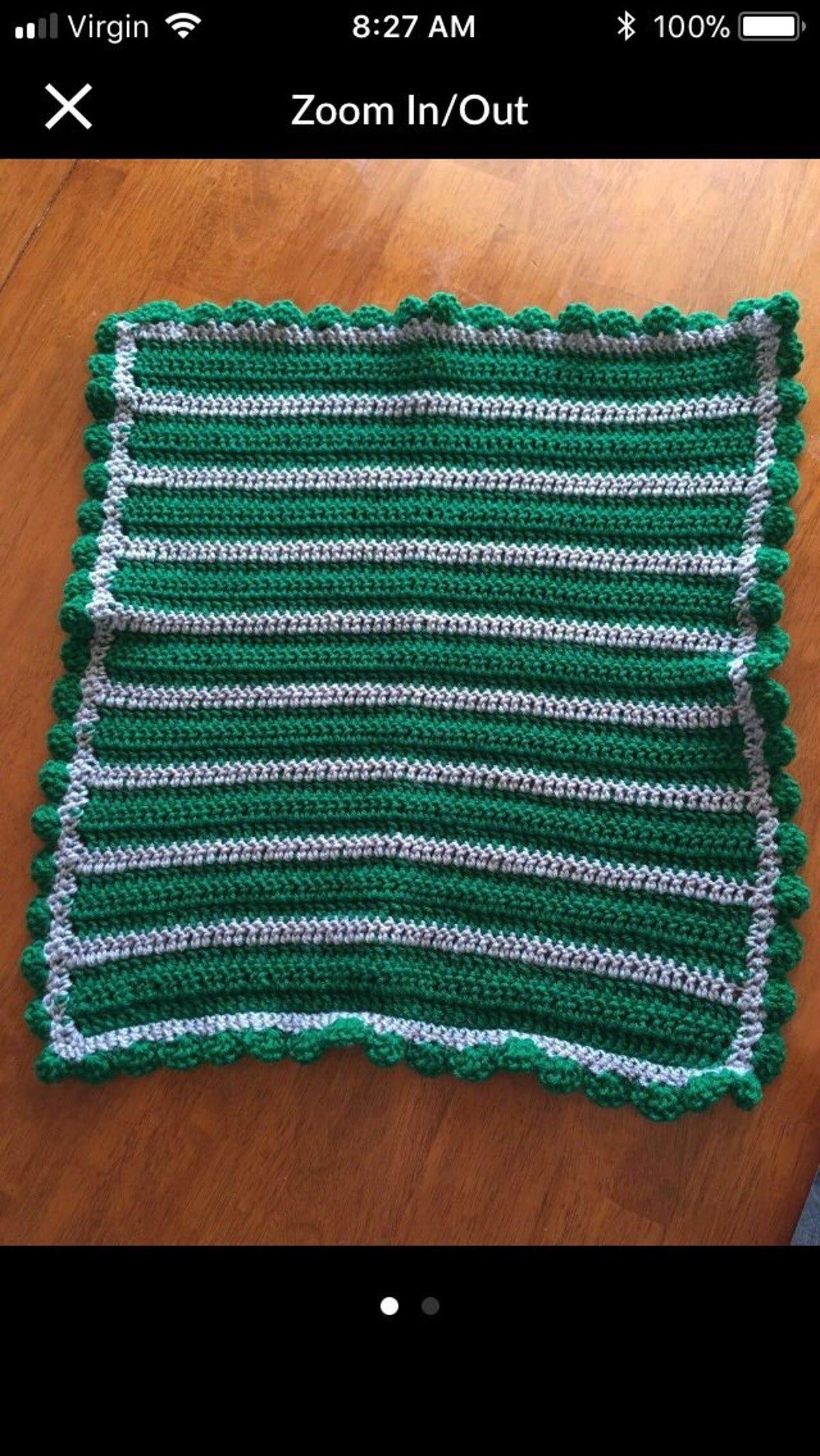 Slytherin babytoddler blanket