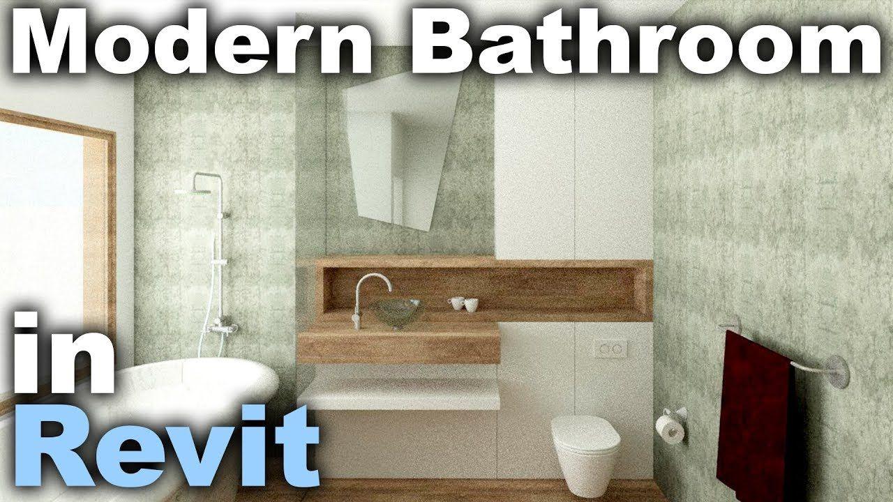Modern Bathroom Interior Design In Revit Tutorial Diy Home