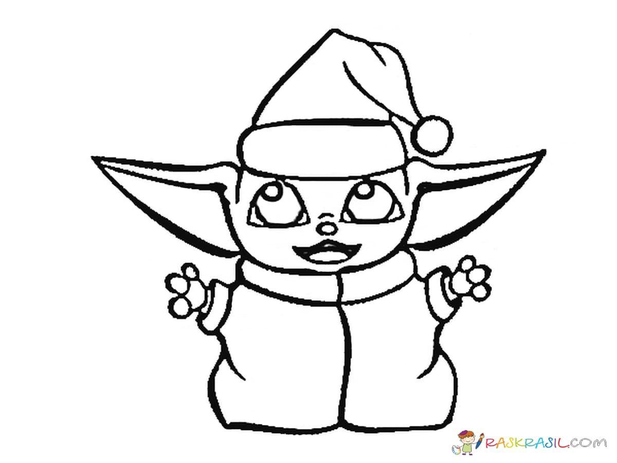 Coloring Pages Baby Yoda The Mandalorian And Baby Yoda Free In 2020 Coloring Pages Unique Coloring Pages Yoda