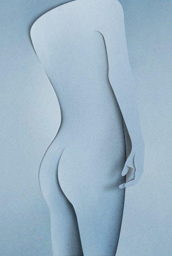 naked paper art - Imgur