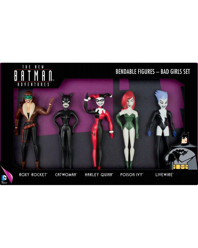 BATGIRL//POISON IVY//HARLEY QUINN//CATWOMAN Bendable Figures New Batman Adventures