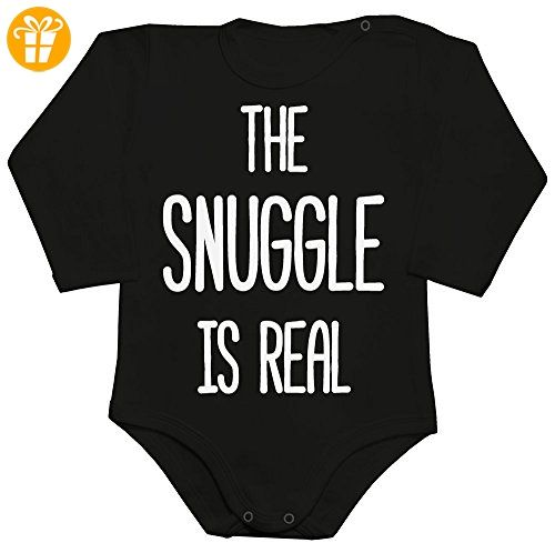 The Snuggle Is Real Baby Romper Long Sleeve Bodysuit Large - Baby bodys baby einteiler baby stampler (*Partner-Link)
