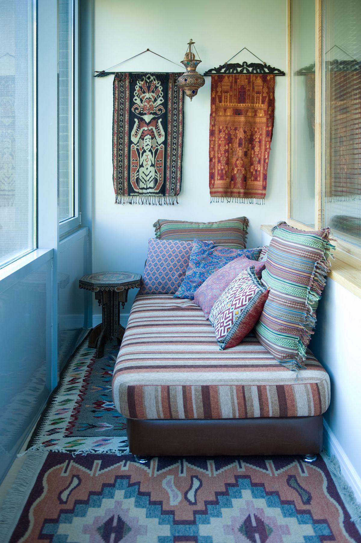 Фото веранда лоджия Квартира | Украшения для балкона ...