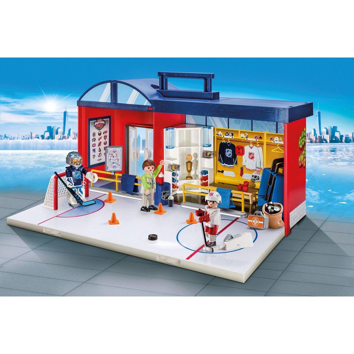Playmobil Nhl Take Along Arena In 2020 Lego Hockey Nhl Toys R Us Canada